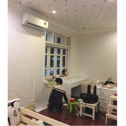 Thi công giấy dán tường Hàn Quốc nhà Chị Ngọc Biệt thự D4 Ciputra