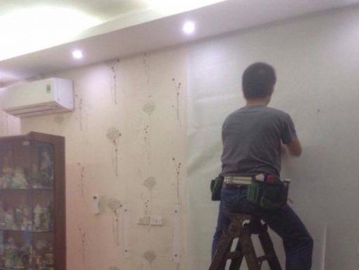 Công trình thi công Giấy dán tường nhà anh Nam Lý Nam Đế