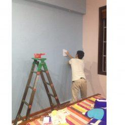 Thi công giấy dán tường Hàn Quốc nhà chị Hà Hoàng Văn Thái