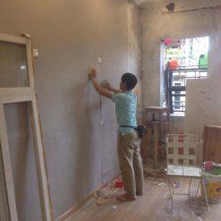 Công trình thi công Giấy dán tường Hàn Quốc cho nhà hàng tại Mã Mây