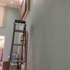 Thi công giấy dán tường Hàn Quốc nhà chị Nhàn Cầu Đơ Hà Đông