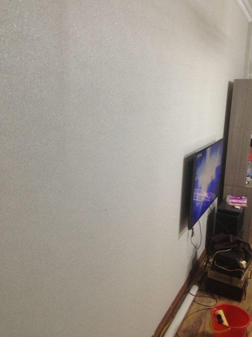 Thi công giấy dán tường Hàn Quốc nhà chú Dũng Cù Chính Lan