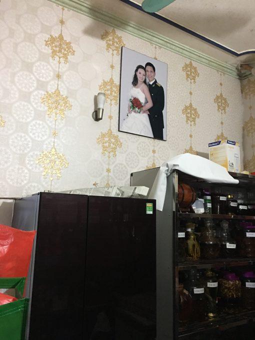 Thi công giấy dán tường Hàn Quốc nhà Chị Đông Văn Giang Hưng Yên