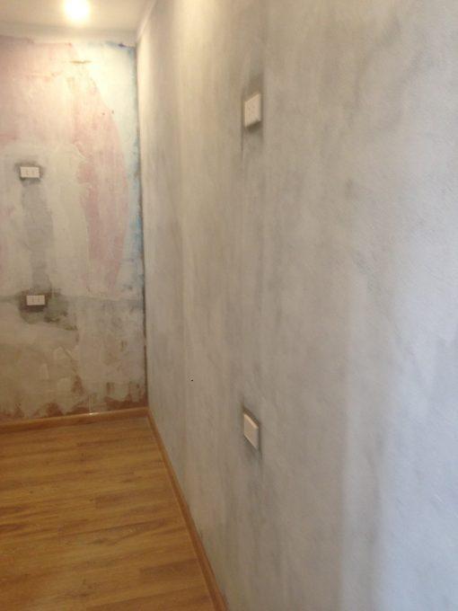 Thi công giấy dán tường Hàn Quốc nhà hàng của chị Thủy Mã Mây