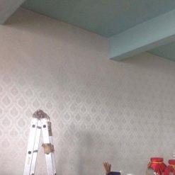 Công trình thi công Giấy dán tường tại Nhà hàng Chung Cửa Bắc Hà Nội